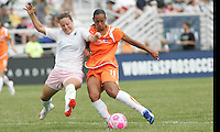Rosana #11, Kendall Fletcher..Saint Louis Athletica defeated Sky Blue FC 1-0 at Anheuser-Busch Soccer Park, Fenton, Missouri.