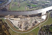 Kreetsand: EUROPA, DEUTSCHLAND, HAMBURG 22.03.2015:  Das IBA-Projekt Kreetsand, ein Pilotprojekt im Rahmen des Tideelbe-Konzeptes der Hamburg Port Authority (HPA), soll auf der Ostseite der Elbinsel Wilhelmsburg zusaetzlichen Flutraum für die Elbe schaffen. Das Tidevolumen wird durch diese strombauliche Massnahme vergroessert und der Tidehub reduziert. Gleichzeitig ergeben sich neue Moeglichkeiten für eine integrative Planung und Umsetzung verschiedenster Interessen und Belange aus Hochwasserschutz, Hafennutzung, Wasserwirtschaft, Naturschutz und Naherholung. Das Projekt Kreetsand wird vor diesem Hintergrund auch einen Teil des IBA-Projekts Deichpark-Elbinsel darstellen. Bei dem Projekt werden diese Aspekte für die gesamte Elbinsel analysiert und vorteilhafte Maßnahmen und Strategien fuer die Kombination der verschiedenen Anforderungen entwickelt.