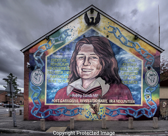 """Despite an undistinguished career in the IRA prior to his arrest, Bobby Sands became a hugely important symbol once he wound up in the Maze Prison.  He led the 1981 Hunger Strikes that left him and nine other Republican prisoners dead.  But not before he got elected to Parliament (people believed that if they elected him, Margaret Thatcher would not let a """"colleague"""" die in prison...they guessed wrong about that).  Sands and the others played a crucial role in re-energizing the IRA both militarily and politically and he remains a beloved figure for it almost thirty years on."""