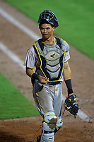 Bradenton Marauders catcher Endy Rodriguez (5) during a game against the Dunedin Blue Jays on June 5, 2021 at TD Ballpark in Dunedin, Florida.  (Mike Janes/Four Seam Images)