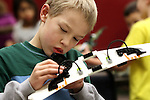 Adolfas Stankus, 9, plays at the Lego Club event at the Carson City Library, in Carson City, Nev., on Saturday, Dec. 17, 2011. .Photo by Cathleen Allison