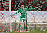 20160513 - LIEGE , BELGIUM : Standard's Lisa Lichtfus pictured during a soccer match between the women teams of  Standard Femina De Liege and KAA Gent Ladies , during the fifth matchday in the SUPERLEAGUE Playoff 1 , Friday 13 May 2016 . PHOTO SPORTPIX.BE / DAVID CATRY