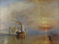 Full title: The Fighting Temeraire<br /> Artist: Joseph Mallord William Turner<br /> Date made: 1839<br /> Source: http://www.nationalgalleryimages.co.uk/<br /> Contact: picture.library@nationalgallery.co.uk<br /> <br /> Copyright © The National Gallery, London