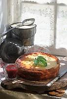 """Europe/France/Normandie/14/Calvados: Gateau au Camembert du Jour recette de Jacques Berlot du """"Relais du Busard"""""""