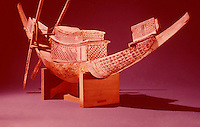 Egypt:  Model Boat--painted wood.  Treasures of Tutankhamun, Cairo Museum.   MMA  1976.