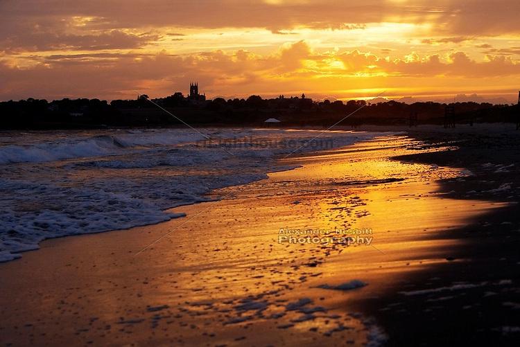 Sunset at Second Beach, Newport