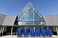 COPY BY TOM BEDFORD<br /> Pictured: Pallets of shopping trolleys are unloaded at the entrance to the store.<br /> Re: Trago Mills Mega Store, which opened its doors in Merthyr Tydfil, and is the largest store in Wales, UK. It is a £65m investment creating 350 jobs in one of Britain's biggest unemployment blackspots