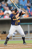 Montgomery Biscuits Stephen Vogt #18 waits on a pitch during a game against  the Tennessee Smokies at Smokies Park in Kodak,  Tennessee;  April 13, 2011.  Tennessee defeated Montgomery 12-2.  Photo By Tony Farlow/Four Seam Images