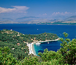 Greece, Corfu, Agios Stefanos: View of Bay | Griechenland, Korfu, Agios Stefanos an der Nord-Ost Kueste