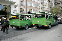 Funeral hearses in Istanbul, Turkey