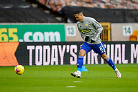 7th February 2021; Molineux Stadium, Wolverhampton, West Midlands, England; English Premier League Football, Wolverhampton Wanderers versus Leicester City; Youri Tielemans of Leicester City warms-up prior to the match