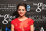 Macarena Gomez poses before the 2015 Goya Awards nominee ceremony in Madrid, Spain. January 19, 2015. (ALTERPHOTOS/Victor Blanco)
