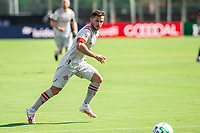 LAKE BUENA VISTA, FL - JULY 13: Pablo Piatti #7 of Toronto FC looks for the ball during a game between D.C. United and Toronto FC at Wide World of Sports on July 13, 2020 in Lake Buena Vista, Florida.