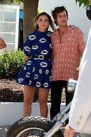 """CANNES, FRANCE - JULY 13: Clotilde Courau and Director Maxime Roy at the """"Les Heroiques/The Heroics"""" photocall during the 74th annual Cannes Film Festival on July 13, 2021 in Cannes, France. <br /> CAP/GOL<br /> ©GOL/Capital Pictures"""