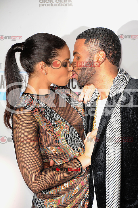 LOS ANGELES, CA - NOVEMBER 18: Jason Derulo, at right, and Jordin Sparks at The 40th Annual American Music Awards at The Nokia Theater LA Live, in Los Angeles, California. November 18, 2012. Photo by: MPI99/MediaPunch Inc NortePhoto