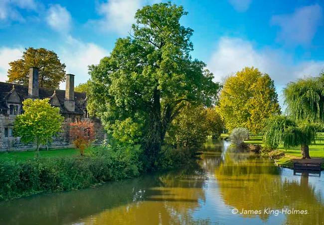 The River Welland, in Stamford, Lincolshire, UK