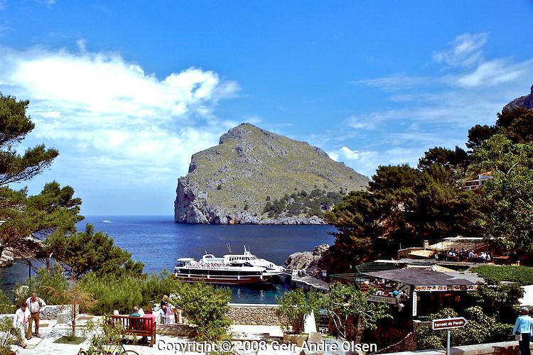 Sa Colobra, small scenic village at Majorca in the morning
