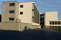 GERMANY, Dessau - Rosslau, famous Bauhaus, built 1925 - 1926 according the planning of  Walter Gropius as building for the Bauhaus school for architecture , art and design