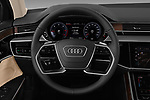 Car pictures of steering wheel view of a 2019 Audi A8-L Avus-Extended 4 Door Sedan Steering Wheel