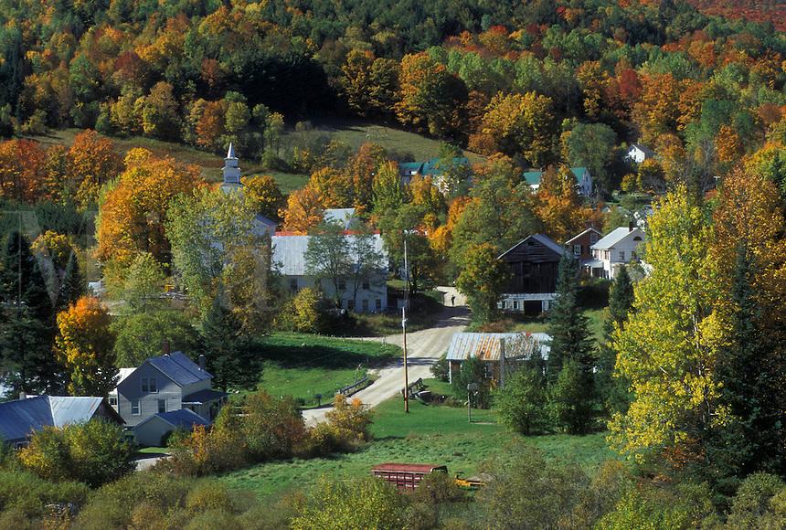 village, fall, East Topsham, VT, Vermont, Scenic view of the village of East Topsham in the autumn.