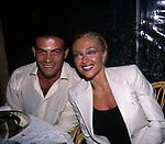 PAOLA BARALE CON GIANNI SPERTI<br /> FESTA PER I 60 ANNI DI MAURIZIO COSTANZO<br /> MANEGGIO DI GIANNELLA  1998