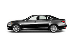 Car Driver side profile view of a 2016 Lexus LS 600h L 4 Door Sedan Side View