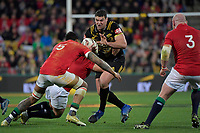 Hurricanes' Ben May in action during the New Zealand Lions Series - Hurricanes v British and Irish Lions at Westpac Stadium, Wellington, New Zealand on Tuesday 27 June 2017.<br /> Photo by Masanori Udagawa<br /> www.photowellington.photoshelter.com.
