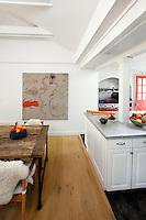 White open plan kitchen