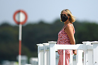 An official watches the course during Horse Racing at Salisbury Racecourse on 9th August 2020