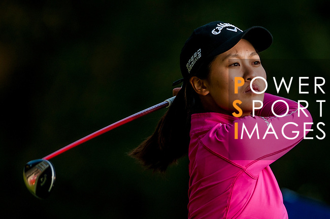 Xiyu Lin of China in action during the Hyundai China Ladies Open 2014 at World Cup Course in Mission Hills Shenzhen on December 13 2014, in Shenzhen, China. Photo by Xaume Olleros / Power Sport Images