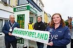 Cllr Brendan Cronin, Leo O'Connor and Ann Rohan launching the Killarney Cardiac Response Defibrillator in Killarney on Tuesday