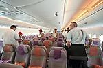 10.06.2010, ILA Internationalen Luftfahrt-Ausstellung ,Flughafen Schönefeld Berlin, GER, im Bild Innenansichtes des Airbus A380 der Emirates Foto © nph / Hammes