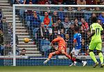 05.05.2019 Rangers v Hibs: Allan McGregor makes a stunning save to deny Hibs