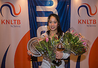 Hilversum, Netherlands, December 4, 2016, Winter Youth Circuit Masters, Overall winner girls 16 years, Lian Tran <br /> Photo: Tennisimages/Henk Koster