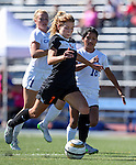 Douglas' McKenna Kynett scores her first goal of the game against the Senators at Carson High School in Carson City, Nev., on Saturday, Oct. 10, 2015. Douglas won 2-1.  <br /> Photo by Cathleen Allison