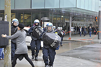 Montreal (QC) CANADA - April 21  2012 file Photo -student demonstration near Montreal Convention Centree