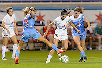 Chicago, IL - Saturday July 30, 2016: Alyssa Mautz, Erika Tymrak, Arin Gilliland during a regular season National Women's Soccer League (NWSL) match between the Chicago Red Stars and FC Kansas City at Toyota Park.