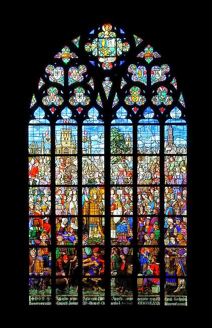 Stained glass window, Oudevrouwkerk, Antwerp