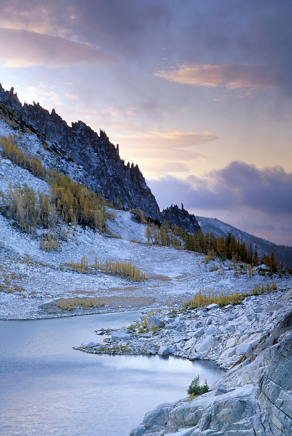Perfection Lake & McClellan Peak, Enchantment Lakes, Alpine Lakes Wilderness, Washingto