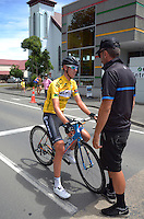 Ben O'Connor after winning the NZCC tour following the NZ Cycle Classic stage five of the UCI Oceania Tour in Masterton, New Zealand on Saturday, 23 January 2016. Photo: Dave Lintott / lintottphoto.co.nz