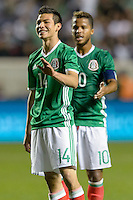 Bridgeview, IL, USA - Tuesday, October 11, 2016: Mexico forward Hirving Lozano (14) during an international friendly soccer match between Mexico and Panama at Toyota Park. Mexico won 1-0.