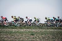 Later race winner Alexander Kristoff (NOR/UAE) early race hidden in the peloton. <br /> <br /> <br /> 82nd Gent – Wevelgem in Flanders Fields 2019 (1.UWT)<br /> Deinze – Wevelgem: 251,5km<br /> ©kramon