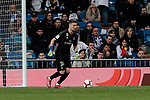 Real Madrid's Luca Zidane during La Liga match between Real Madrid and SD Huesca at Santiago Bernabeu Stadium in Madrid, Spain. March 31, 2019. (ALTERPHOTOS/A. Perez Meca)