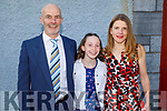 Rachel Barry former student of Gaelscoil Mhic Easmann receiving her Confirmation is St John's Church on Saturday with her parents Kevin and Catriona Barry.
