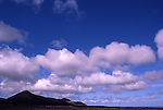 Afrika, ESP, Spain, Canary Islands, Lanzarote, National park Timanfaya, Cumulus clouds, Volcanic Landscape