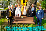 At the 50th Commemoration of Tralee Save the Green Committee on Friday evening in the Tralee town park at the unveiling of the new bench.. <br /> L to r: Lily Tangley, Eddie Jennings, Jim Griffin, Cllr: Norma Foley, Eddie Riordan, Cllr Jim Finucane (Mayor of Tralee) and Tommy Collins (Chairman)