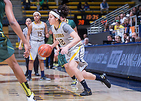 Hind Ben Adbelkader of California dribbles the ball against Oregon at Haas Pavilion in Berkeley, California on January 5th, 2014. California defeated Oregon