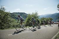 the race leaders have a 20 minute lead over the peloton<br /> <br /> stage 16: Luarca - Ermita de Alba. Quiros (185km)<br /> 2015 Vuelta à Espagna