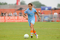 Casey Nogueira (27) of Sky Blue FC. Sky Blue FC and the Boston Breakers played to a 0-0 tie during a Women's Professional Soccer (WPS) match at Yurcak Field in Piscataway, NJ, on June 12, 2011.