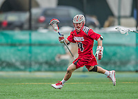 18 April 2015: University of Hartford Hawk Midfielder Dylan Protesto, a Freshman from Media, PA, in action against the University of Vermont Catamounts at Virtue Field in Burlington, Vermont. The Cats defeated the Hawks 14-11 in the final home game of the 2015 season. Mandatory Credit: Ed Wolfstein Photo *** RAW (NEF) Image File Available ***